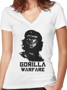 Gorilla or Guerrilla warfare? Che Guevara Planet of the Apes Women's Fitted V-Neck T-Shirt