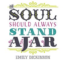 """Emily Dickinson: """"The soul should always stand ajar"""" by Jenn Reese"""