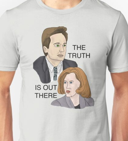 The Truth Is Out There - Mulder/Scully X-Files Illustration Unisex T-Shirt