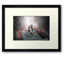 The Swan Curse - SwanFire Framed Print