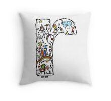 IMOK Letter r Throw Pillow