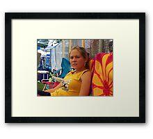 middle daughter Framed Print