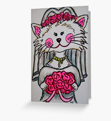Bride To Be Kitty Greeting Card