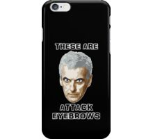 Doctor Who 12 Peter Capaldi - Attack Eyebrows iPhone Case/Skin