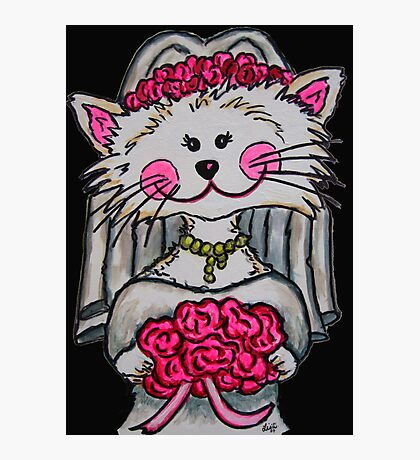 Bride To Be Kitty Photographic Print