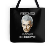 Doctor Who 12 Peter Capaldi - Attack Eyebrows Tote Bag
