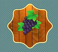 Grapes on a wooden background 2 by AnnArtshock