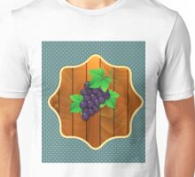 Grapes on a wooden background 2 Unisex T-Shirt