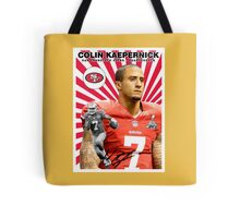 Colin Kaepernick Baseball Card Tote Bag