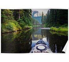 Kayaking to the Rainbow Bridge Poster