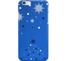 Greeting card with Christmas tree and snowflakes iPhone Case/Skin