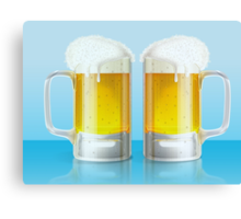 Light beer mugs Canvas Print