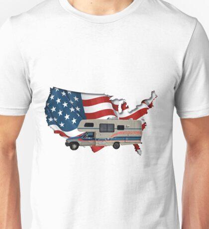 Camp America Toyota Motorhome Flag Unisex T-Shirt