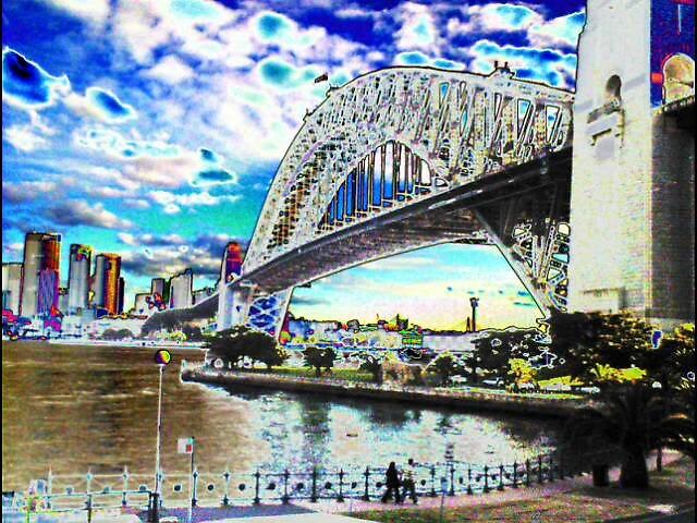 Sydney Harbour Bridge by liqwidrok