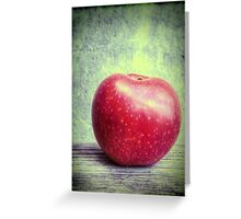 Red apple on grunge background 4 Greeting Card