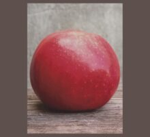 Red apple on grunge background 5 Kids Clothes