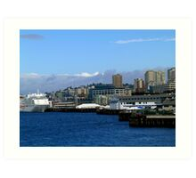 Seattle Harbor Art Print