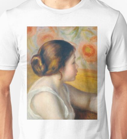 Auguste Renoir - Head Of A Young Woman, 1890 Unisex T-Shirt