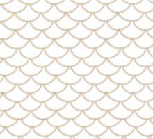 Modern Taupe Scallop Pattern by phantomprint