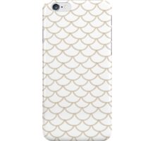 Modern Taupe Scallop Pattern iPhone Case/Skin