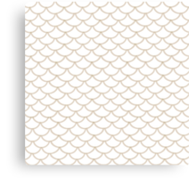 Modern Taupe Scallop Pattern Canvas Print