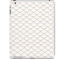 Modern Taupe Scallop Pattern iPad Case/Skin