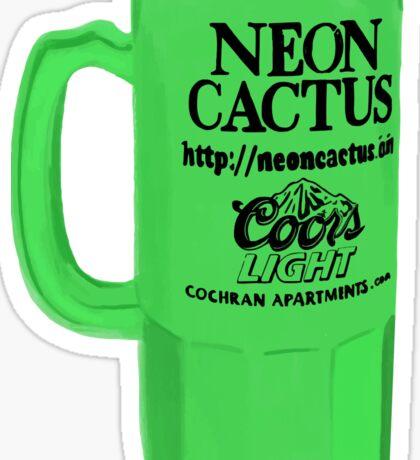 Purdue Neon Cactus Cup Sticker