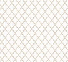 White and Tan Quatrefoil Pattern by phantomprint