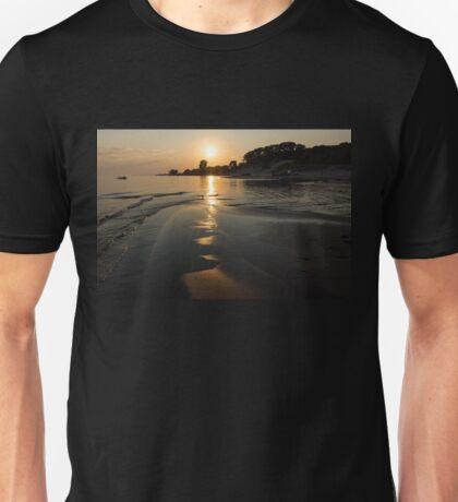 A Golden Path to Summer Fun - Lake Erie Beach Sunset Unisex T-Shirt