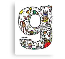 IMOK Letter G Canvas Print
