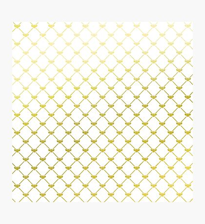 Golden French Bee Pattern Photographic Print