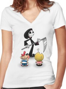 The Grim Adventures of Jack Women's Fitted V-Neck T-Shirt