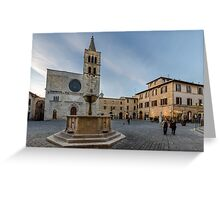 Bevagna Square Greeting Card