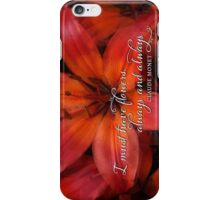 Red Lily Profusion iPhone Case/Skin