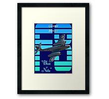 "Gloster Meteor F8 ""Blue Note"" T-shirt Design Framed Print"