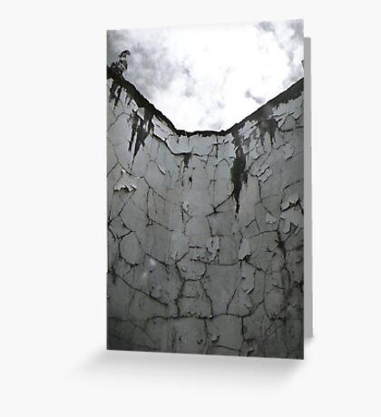 Tired Wall Greeting Card