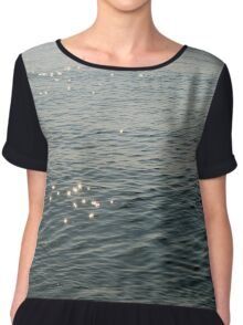 Shimmers on the water Women's Chiffon Top