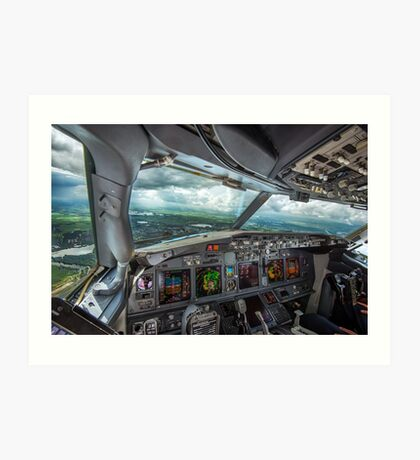 Stormy approach towards Amsterdam Art Print