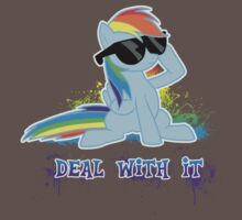 Raindow Dash Says Deal With It Kids Clothes