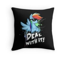 Rainbow Dash Deal With It Throw Pillow