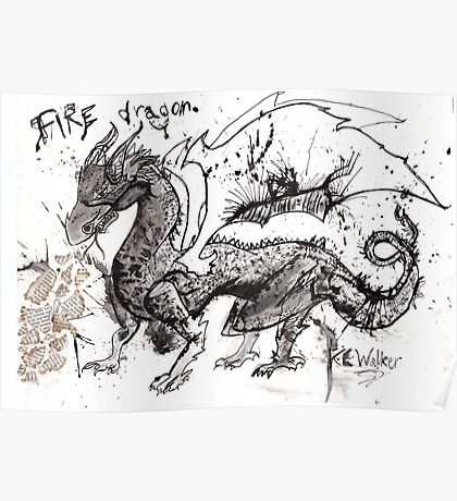 Fire Dragon  Poster