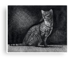 Alert Bengal Cat Canvas Print