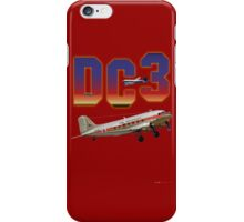 DC3 T-shirt Design iPhone Case/Skin