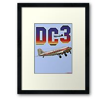 DC3 T-shirt Design Framed Print