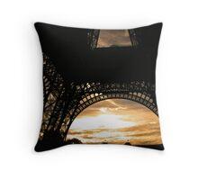 Eiffel Tower Sunset Throw Pillow