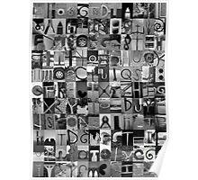 Alphabet Soup No.1 Poster