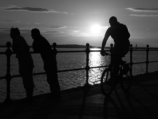 West Kirby Mono-sunset by Tony Moore