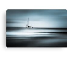 lone ship on the ocean Canvas Print