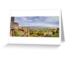 A View from Todi Greeting Card