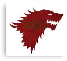 Christmas is Coming - Game of Thrones Stark Banner Canvas Print